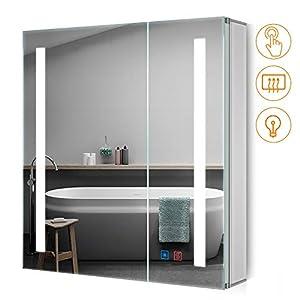 Badezimmer Spiegelschrank mit Led günstig online kaufen   Dein Möbelhaus