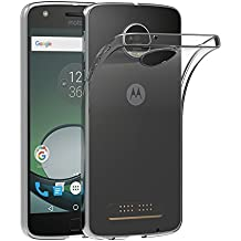 Cover Lenovo Moto Z Play, AICEK Cover Motorola Moto Z Play Silicone Case Molle di TPU Trasparente Sottile Custodia per Moto Z Play