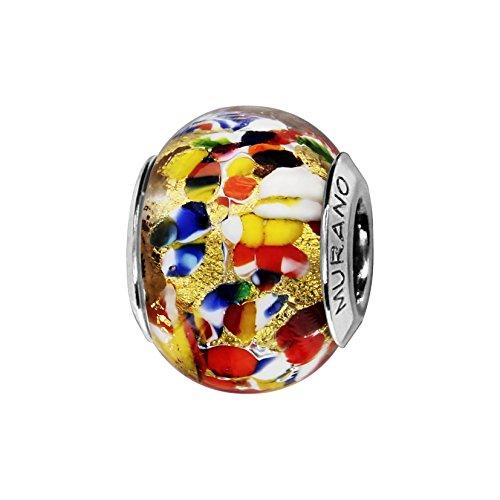 So Chic Joyas© Charm cristal de Murano colores plata 925-Compatible con Pandora, Biagi, Chamilia, Biagi