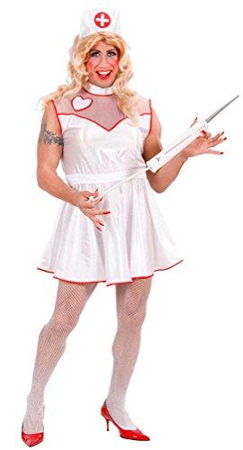 Krankenschwester Männer Kostüm - Karneval-Klamotten Krankenschwester Kostüm Herren Männer Männerballett Karneval Junggesellenabschied Travestie Herrenkostüm Größe 54