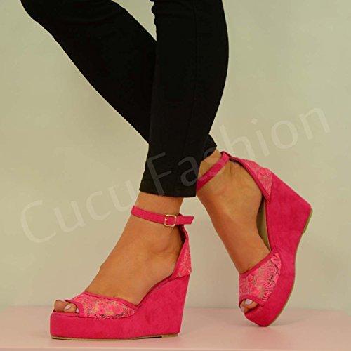 Cucu Fashion - Strap alla caviglia donna Rosa (Rosa chiaro)
