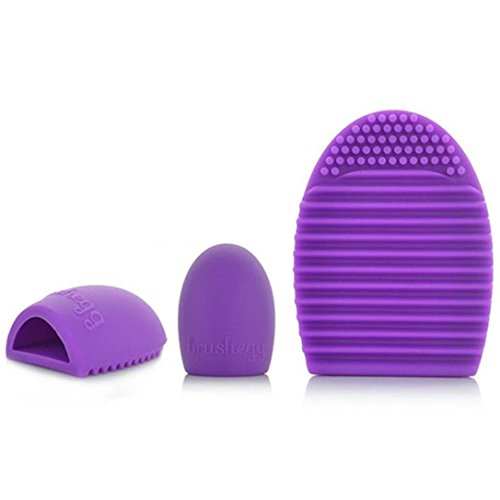 Internet Nettoyage Gant MakeUp Lavage Brosse Conseil Scrubber Cosmetic Clean Violet