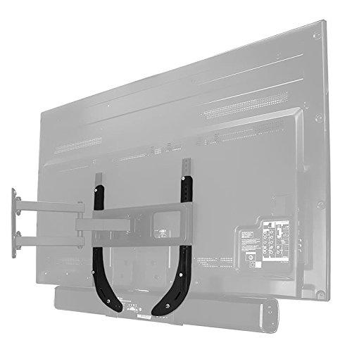 """TV/Monitor Lautsprecher-Halterung, schwarz, max. Tragkraft 15 kg für Telefunken 48\"""" D48U300N4CW"""