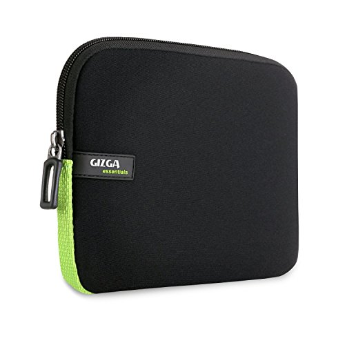 Gizga Essentials Premium 6-Inch Sleeve for Amazon Kindle Paperwhite, Kindle E-Reader, Kindle Voyage & Kindle Oasis (Black-Green)  available at amazon for Rs.399