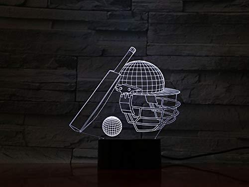 Tisch Schlafzimmer Lampe Baseball 3D Illusion 7 Farbwechsel Touch Sensor Nachtlicht LED Kinder Kinder Geschenk Baby Nachtlicht Dekor