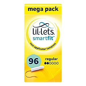 Lil-lets Non-Applicator Regular Tampons X 96 | 6 Packs of 16