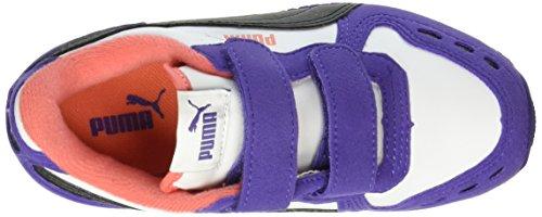 Puma Unisex-Kinder Cabana Racer Sl V Ps Low-Top Weiß (puma white-puma Black-Prism Violet 45)