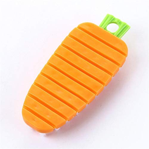 Bobopai Vegetable Brush, Cooking Concepts Kitchen Fruit and Vegetable Brush Veggie Scrubber (Orange)