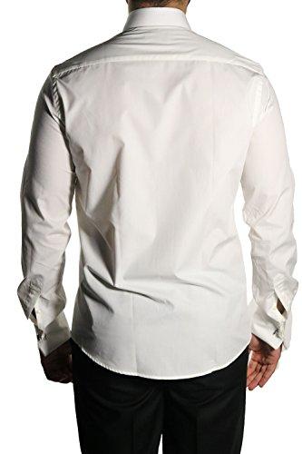 MUGA Homme Chemise à manches longues Crème