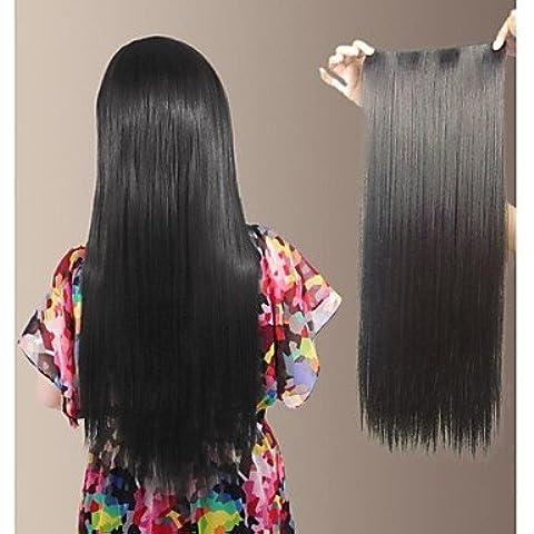 OOFAY JF® lungo sintetico diritto naturale e la clip nell'estensione dei capelli con 5 clips (più colori) , auburn red