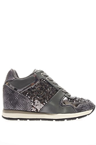 GUESS Laceyy sneakers donna zeppa lacci TESSUTO GREY FLLCY3FAB12 38