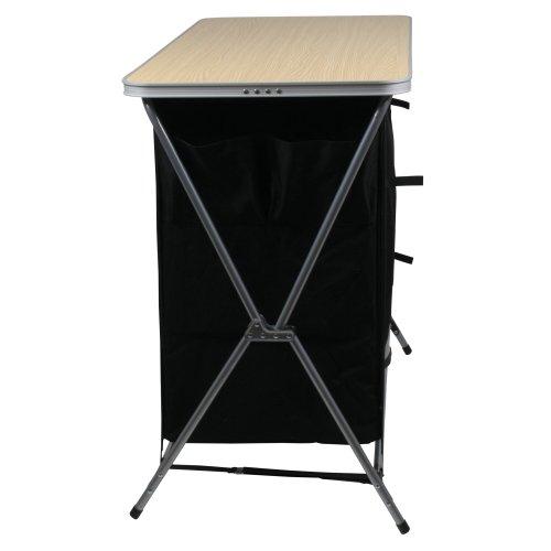 41X55yNRPFL. SS500  - 10T Flapbox - Camping cupboard, 6 draws + top storage box, foldable steel frame, 53x110x90 cm