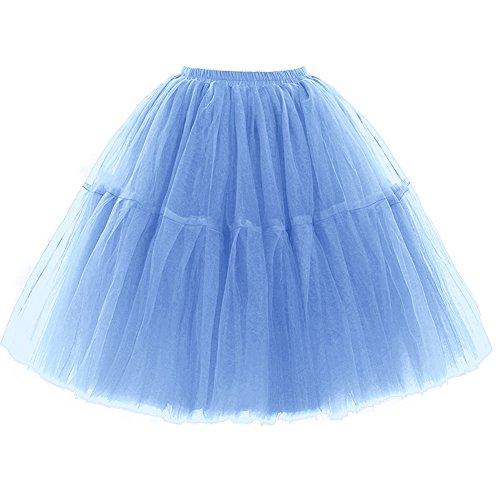 SCFL Adulti Balletto Tutu stratificati Organza Mini delle Donne Gonna di Pizzo Principessa Petticoat per Il Partito di Prom