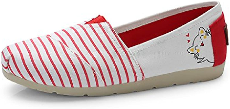 Sandales Verano Nuevo Zapatos Planos Zapatos Mary Boca Rayada Superficial Zapatos Individuales Salvaje Zapatos...