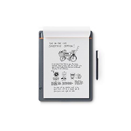 Wacom Bamboo Slate Smartpad A4 / Großes Notepad mit Digitalisierungs-Funktion inkl. Eingabestift mit Kugelschreiber-Mine / Kompatibel mit Android und Apple