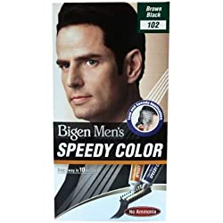 Bigen Men's Speedy Color, Brown Black 102 (40g + 40g)