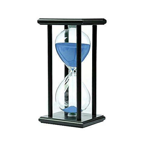 Zhi Jin edlen Holz 30Minuten Sand Timer Sanduhr Uhr Countdown Sanduhren Timer Geschenk Deko Blue Sand