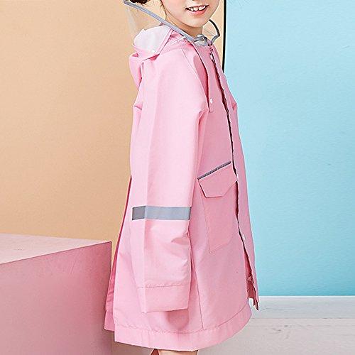 XRXY Regenmantel verdicken mit Tasche Regenmantel Kinder wasserdicht Poncho 2 Farbe Optional Größe Optional Winddichter Regenmantel (...