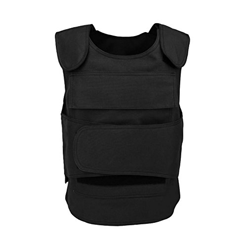 zhuyu Tactical Stab Proof Vest Body Armor Carrier Security Self Defense Plate Equipment, Schwarz -