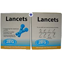 200 Home Health UK 28G Lancetas – Fabricante Confirmado Totalmente Compatible Lancetas Para PiC Indolor,