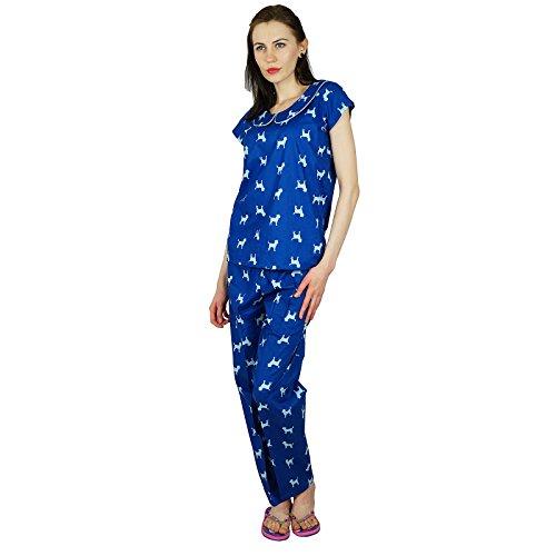 Bimba -  Camicia da notte  - Maniche corte  - Donna Blue