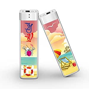 Power Bank colorato LolaChat Pizzico: caricabatterie portatile universale
