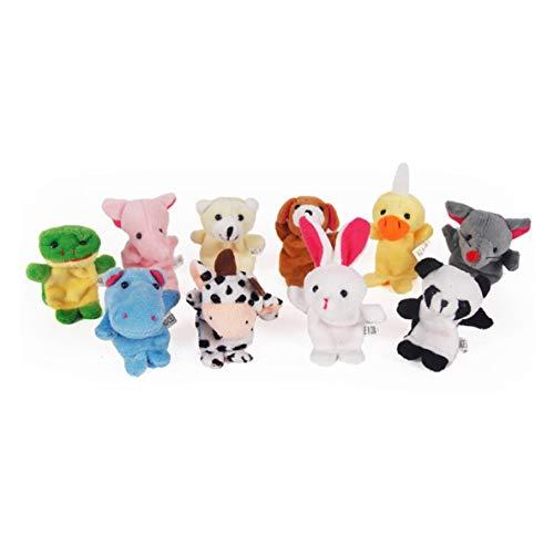 Noradtjcca 1 STÜCK Lustige Baby Plüschtier Tier Fingerpuppen Doppelschicht mit Füße Geschichten Requisiten Puppe Handpuppe Kinder Spielzeug Kinder Geschenk