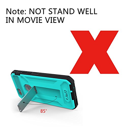 Coque iPhone 6S Plus, iPhone 6 Plus, J&D [Double Couche] Coque de Protection Robuste Antichoc et Hybride pour iPhone 6S Plus, iPhone 6 Plus - Violet Turquoise