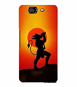 Lord Hanuman 3D Hard Polycarbonate Designer Back Case Cover for Micromax Canvas Knight A350