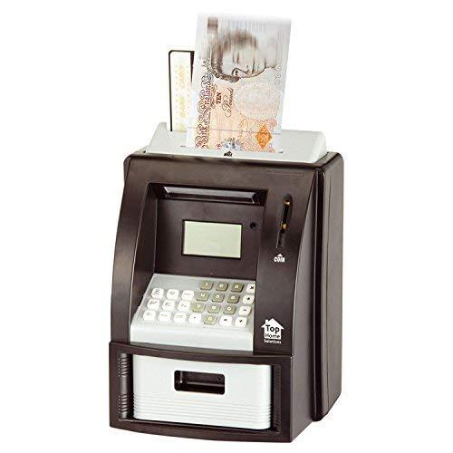 Elektronische Münzzählbox von Top Home Solutions®, Schwarz, digitales Sparschwein