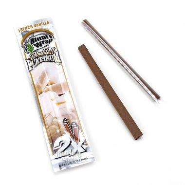 Blunt Wrap Platinum Double Blunt Wrap Lot de 5paquets contenant 2feuilles à cigares Saveur vanille