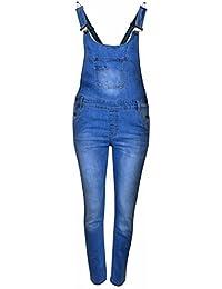 502a700b78e5 11th Stitch Girls Dungaree Full Length 100% Cotton Kids Jeans Denim Dress  Jumpsuit 7-