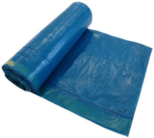250 Müllsäcke 10 Rollen 120 Liter 70x110cm Blau Typ 50 ca. 50µ stark mit Zugband Abfallsäcke Müllbeutel Laubsäcke