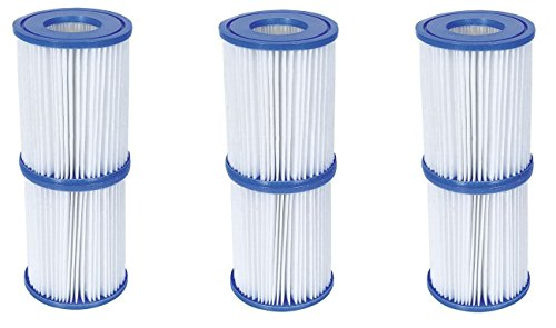 Bestway Flowclear Filterkartuschen Gr.II 10,6x13,6 cm, 6er-Set