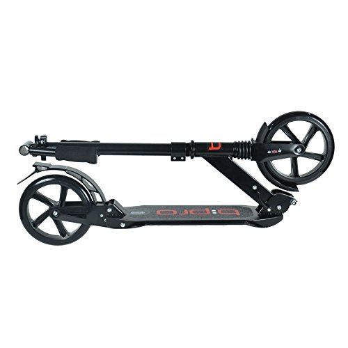 bopster® b:pro – Adult Folding Suspension Scooter – Black