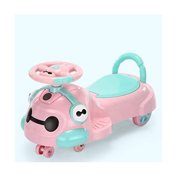 Twist car Swing car Children Universal Wheel 1-3 Year Old Baby Toy Yo Car Scooter Swing Car FANJIANI (color : Pink, Size : Ordinary wheel) Twist car ▶Tip: The delivery time of the product is 8-15 days, If you have any questions, please feel free to contact us ▶Environmental PP material, non-toxic, no odor, corrosion resistance, high temperature resistance, anti-drop, shockproof, baby play more assured ▶ Let the baby stimulate the left and right brains by grasping, promote the development of the cerebellum, support the leg strength of the lower body, maintain the stability of the center of gravity, and exercise the balance of the baby. 3