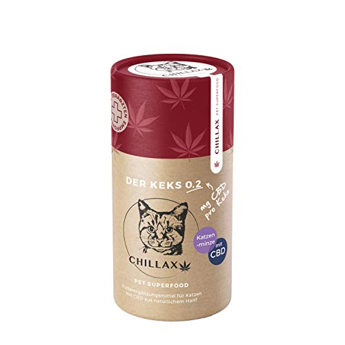 Omega-3-minze (CHILLAX Katzenkekse | 0.2 Mg CBD | Futterzusatz Zur Entspannung | Katzen Leckerlis | Katzenminze | Aus Natürlichem Hanf | 120 Gramm)
