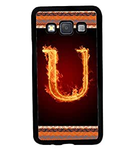 Fuson 2D Printed Alphabet U Designer back case cover for SAMSUNG GALAXY A3 A300F - D4211