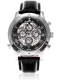 Lindberg & Sons Herren-reloj analógico de pulsera automático de cuero SK14H002