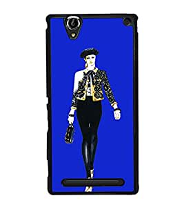 Girl on Ramp 2D Hard Polycarbonate Designer Back Case Cover for Sony Xperia T2 Ultra :: Sony Xperia T2 Ultra Dual SIM D5322 :: Sony Xperia T2 Ultra XM50h
