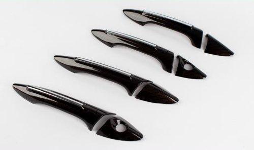 Zubehör für Hyundai i30 GD ab 2012 Carbon Türgriffblenden Türgriffe Kappen Blenden Tuning Karbon Abdeckungen Door Catch Molding