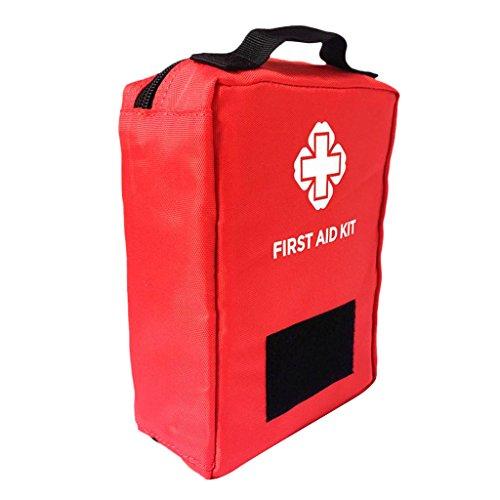 Sharplace Erste-Hilfe Molle Tasche Wasserdichte Notfall Tasche Camping Wandern Outdoor Erste Hilfe Zubehörtasche - Rot