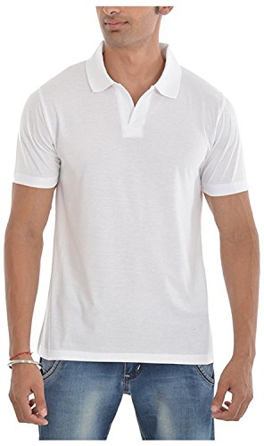 Pintapple Men's ComfortSoft Premium Cotton Polo Collar Half Sleeve T-Shirt with Solid Color(Available in many colors)