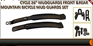 "ewinever(R) 1 Pairx Cycle 26"" Mudguards Front & Rear Mountain Bike/Bicycle Mud Guards Set"