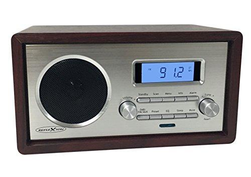 Reflexion HRA1250  wood Retro Design UKW-Radio mit AUX-IN Anschluss und Kopfhöreranschluss holz