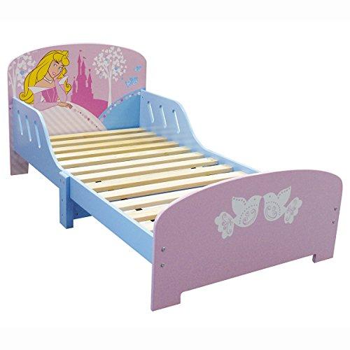 FUN HOUSE 712240 Disney Princesses Lit Fille avec Lattes MDF Rose 144 x 77 x 59 cm