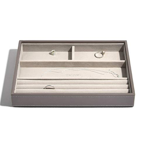 Stackers Jewellery Box | Classic Mink & Grey Velvet Ring & Armband Stacker
