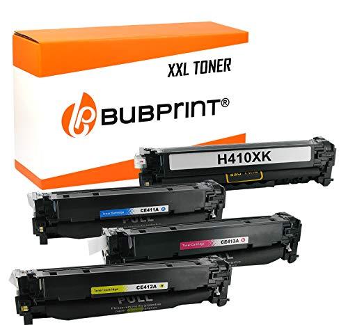 4 Bubprint Toner kompatibel für HP CE410X CE411A CE412A CE413A 305X 305A für Laserjet Pro 300 Color M351A MFP M375NW Pro 400 Color M451DN M451DW M451NW M475DN M475DW