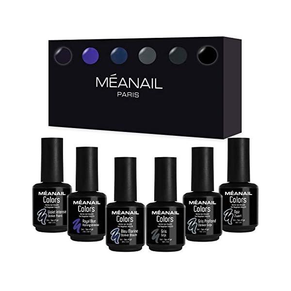 Set de Esmaltes de Uñas Gel UV LED 6 Colores Esmaltes Semipermanente Laca Soak Off Gel Nail Polish Collection Blue…