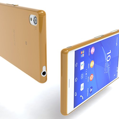 """Sony Xperia Z3 Hülle - EAZY CASE Slimcover """"Clear"""" Handyhülle - Schutzhülle als Smartphone Case in Schwarz / Anthrazit Clear Gold"""